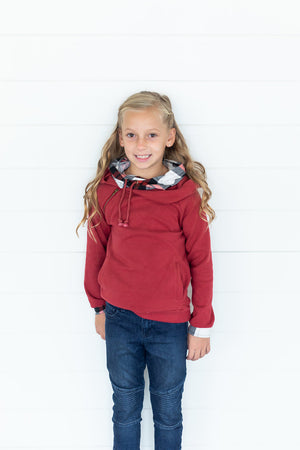 Youth DoubleHood™ - Cranberry Plaid