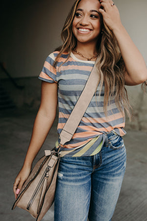 Liz Striped Tee