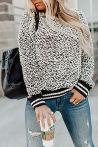 Marled Contrast Sweater