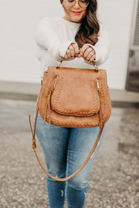 Khloe Saddlebag - Tan