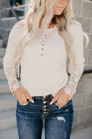Kelly Crochet Sleeve Top