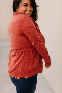 Georgia Anorak Jacket - Brick