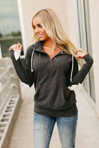 *Exclusive HalfZip Hoodie - Heart Elbow Patch