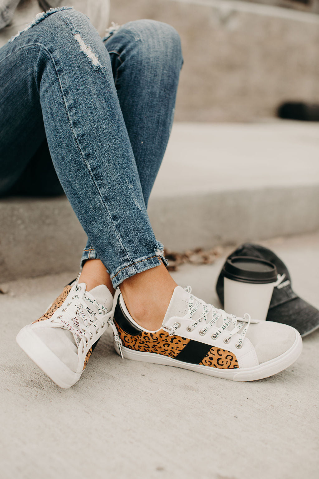Dina Sneakers - Leopard – Mindy Mae's