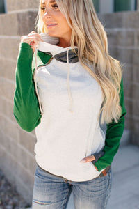 Baseball DoubleHood™ Sweatshirt - Forest