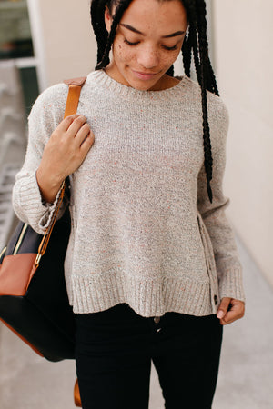 Harvey Side Button Sweater