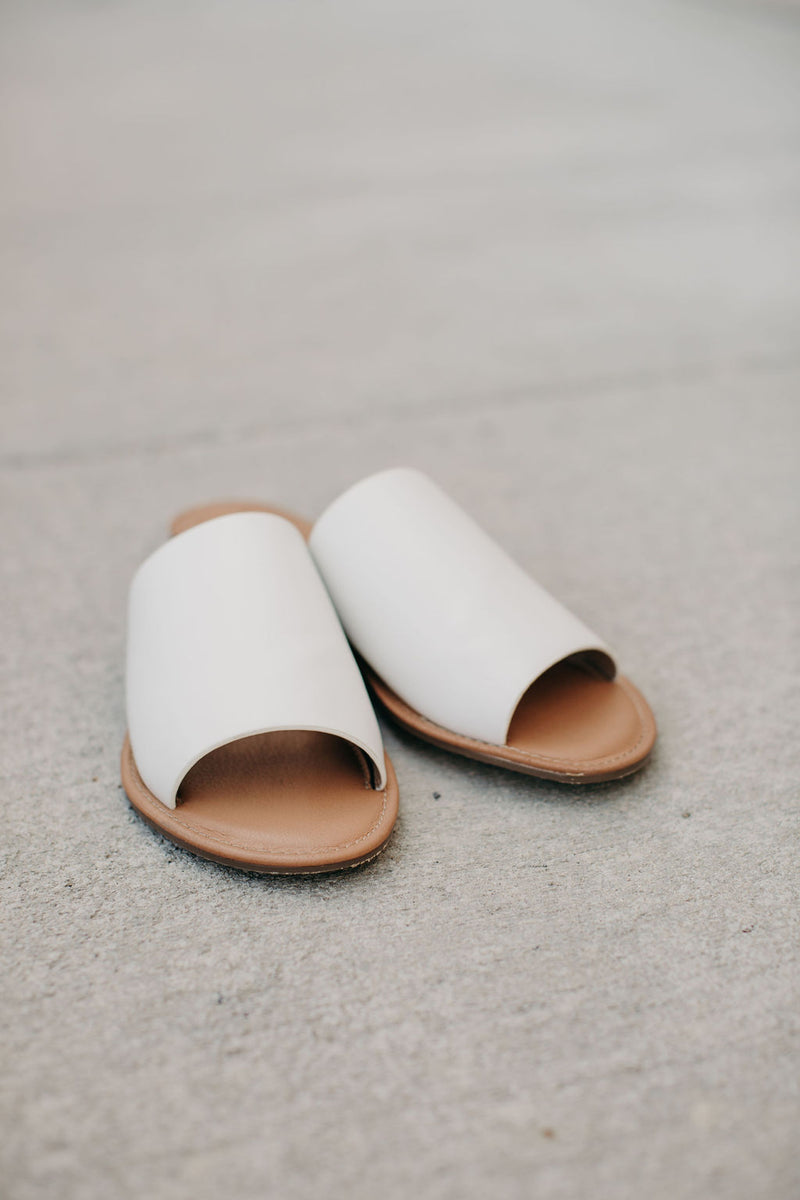 Kaylee Slides - White