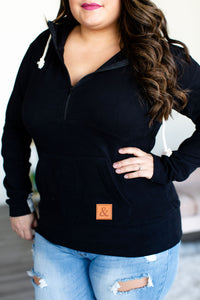 HalfZip Pullover Hoodie, Nursing Friendly Sweatshirt, Classic & Neutral