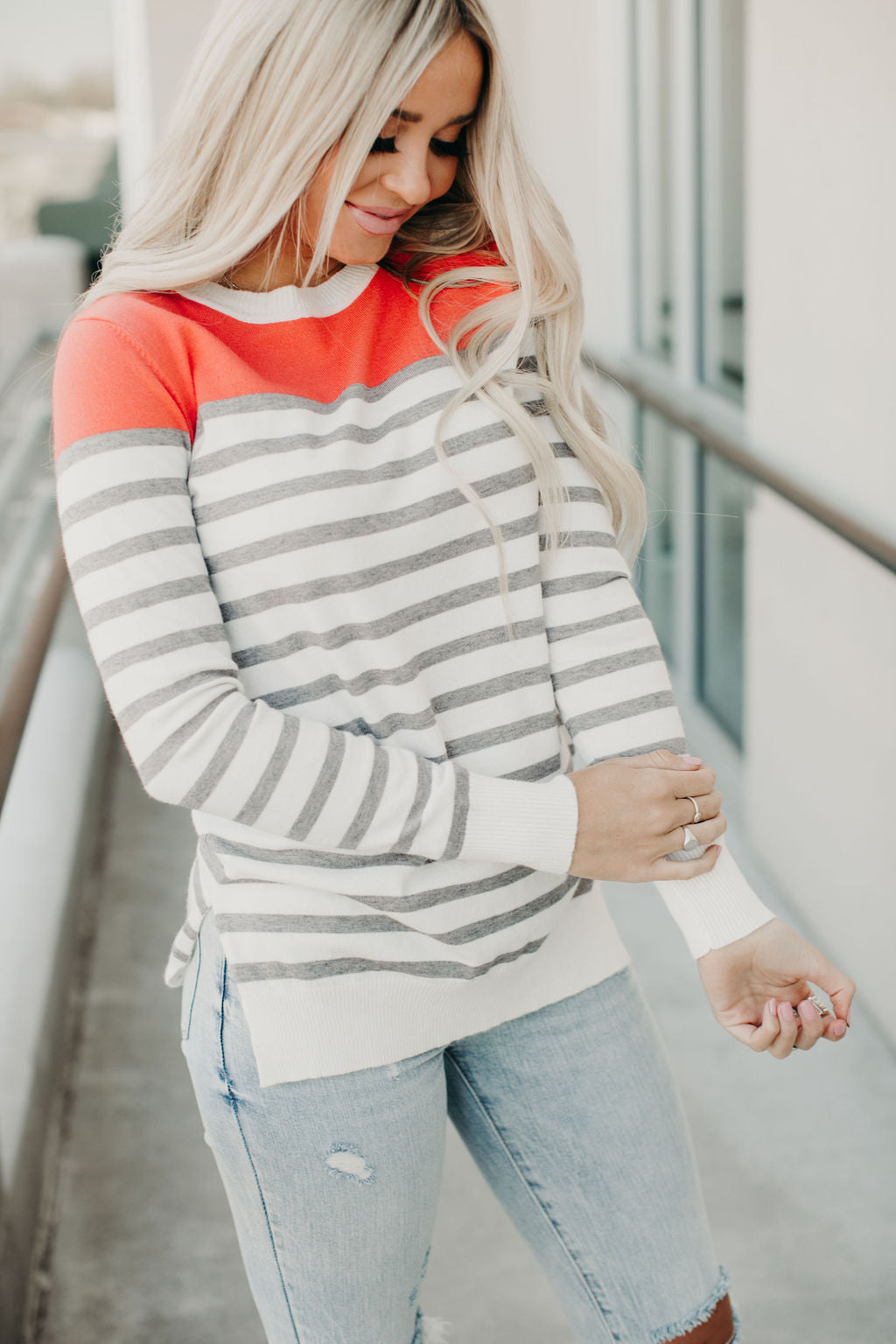 Graham Sweater - Coral Cutie