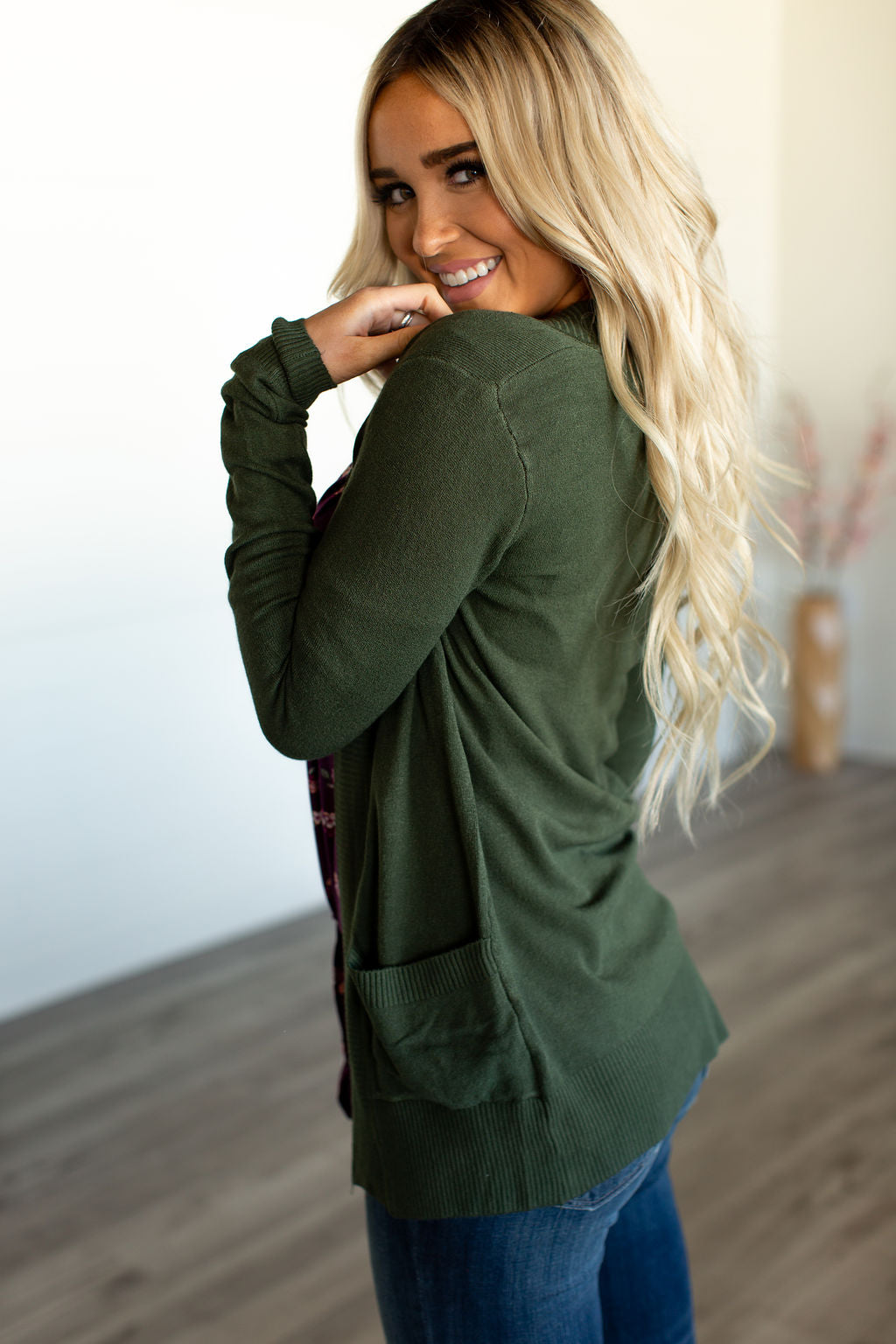 Lightweight Cuddle Cardigan - Olive