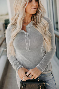 Siena Ribbed Henley Top