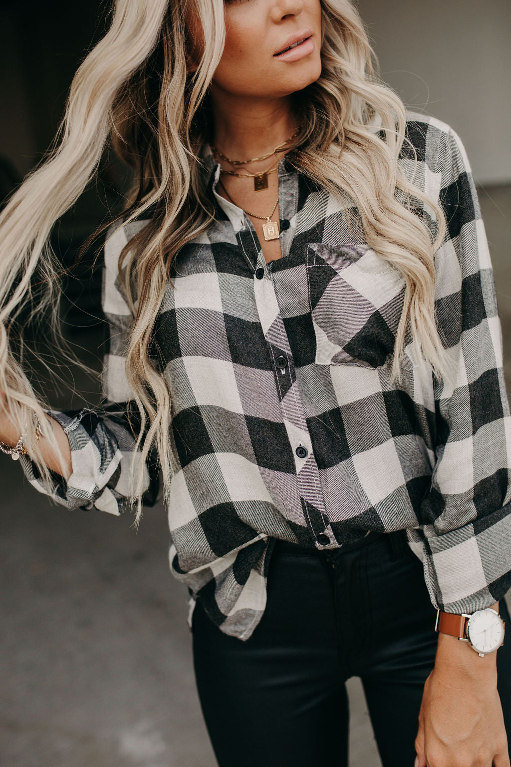 The Classic Button Down - Heather Grey