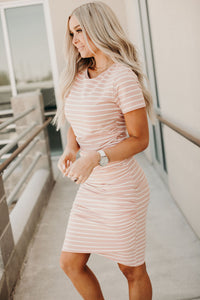 Better Than Basic Dress - Pink Stripe