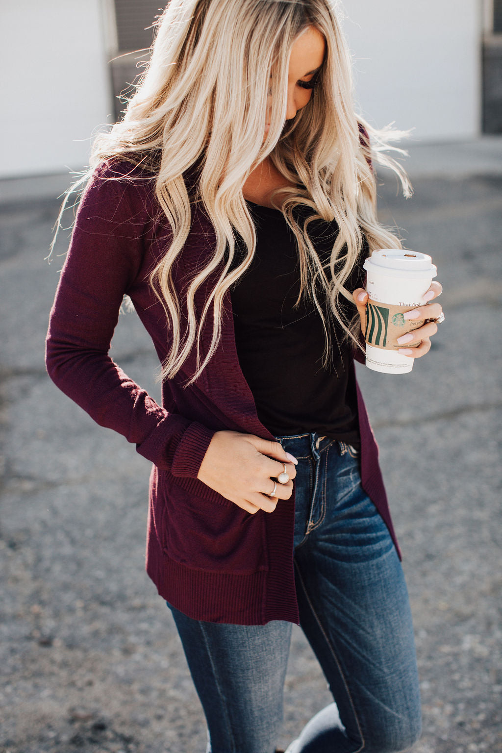 Lightweight Cuddle Cardigan - Eggplant