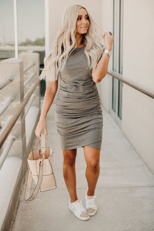Better Than Basic Dress - Charcoal
