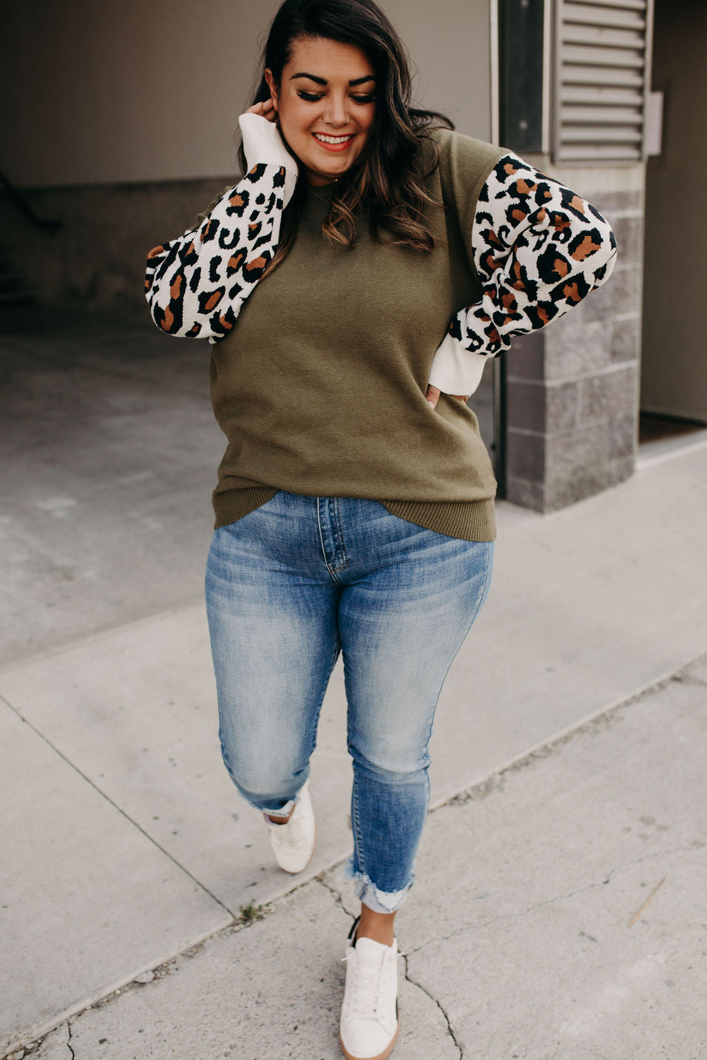 Annelise Leopard Sweater