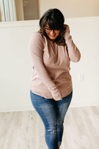 Cozy Rib Knit Tunic - Mocha