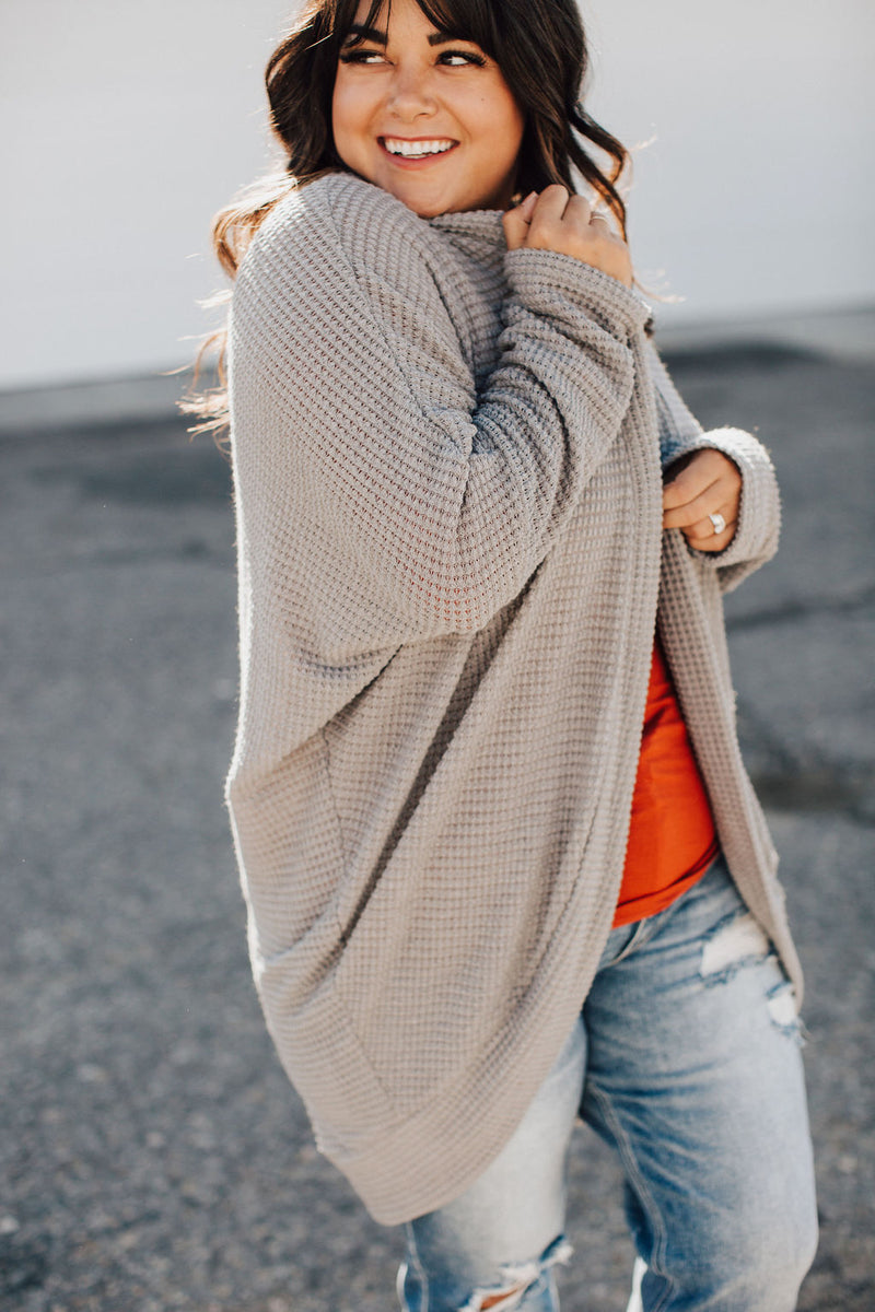 Breakfast in Bed Cardigan - Grey