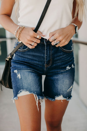 Rock Show Distressed Shorts