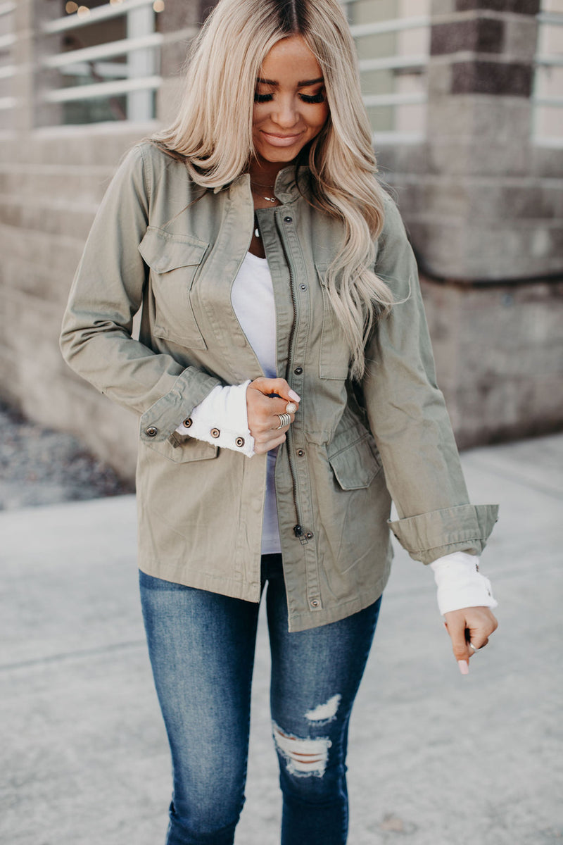 Luna Utility Jacket- Willow