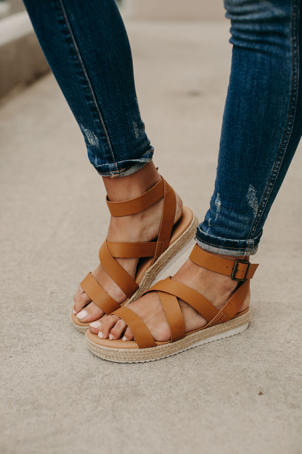 Iris Espadrille Sandals - Tan
