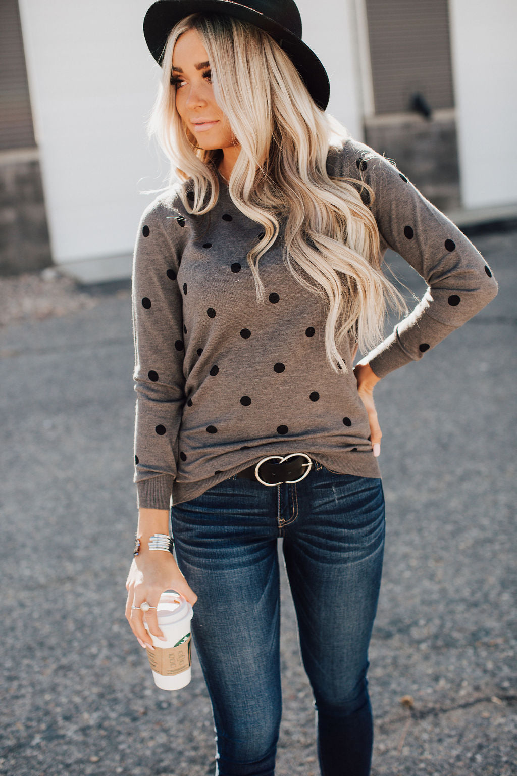 PREORDER: Polka Dot Crew Sweater