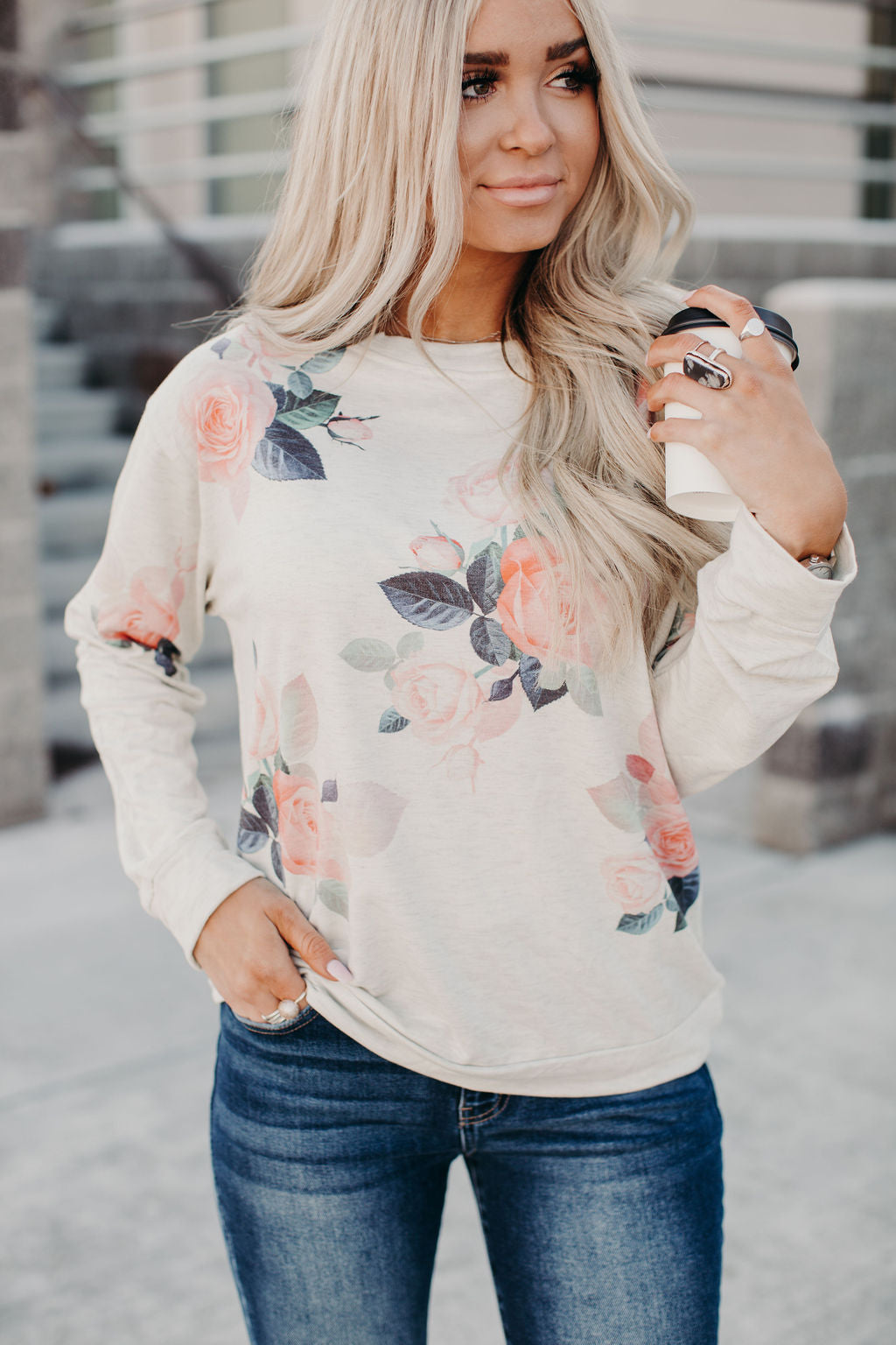 Camille Floral Pullover