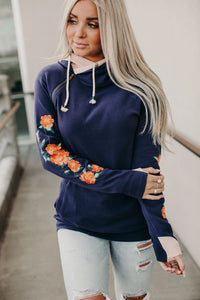 DoubleHood™ Sweatshirt - Ornate Floral Embroidered