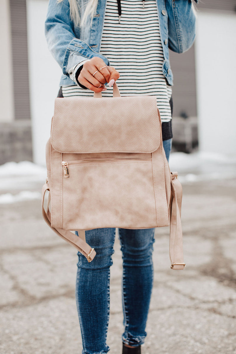 Mick Backpack - Blush Perforated
