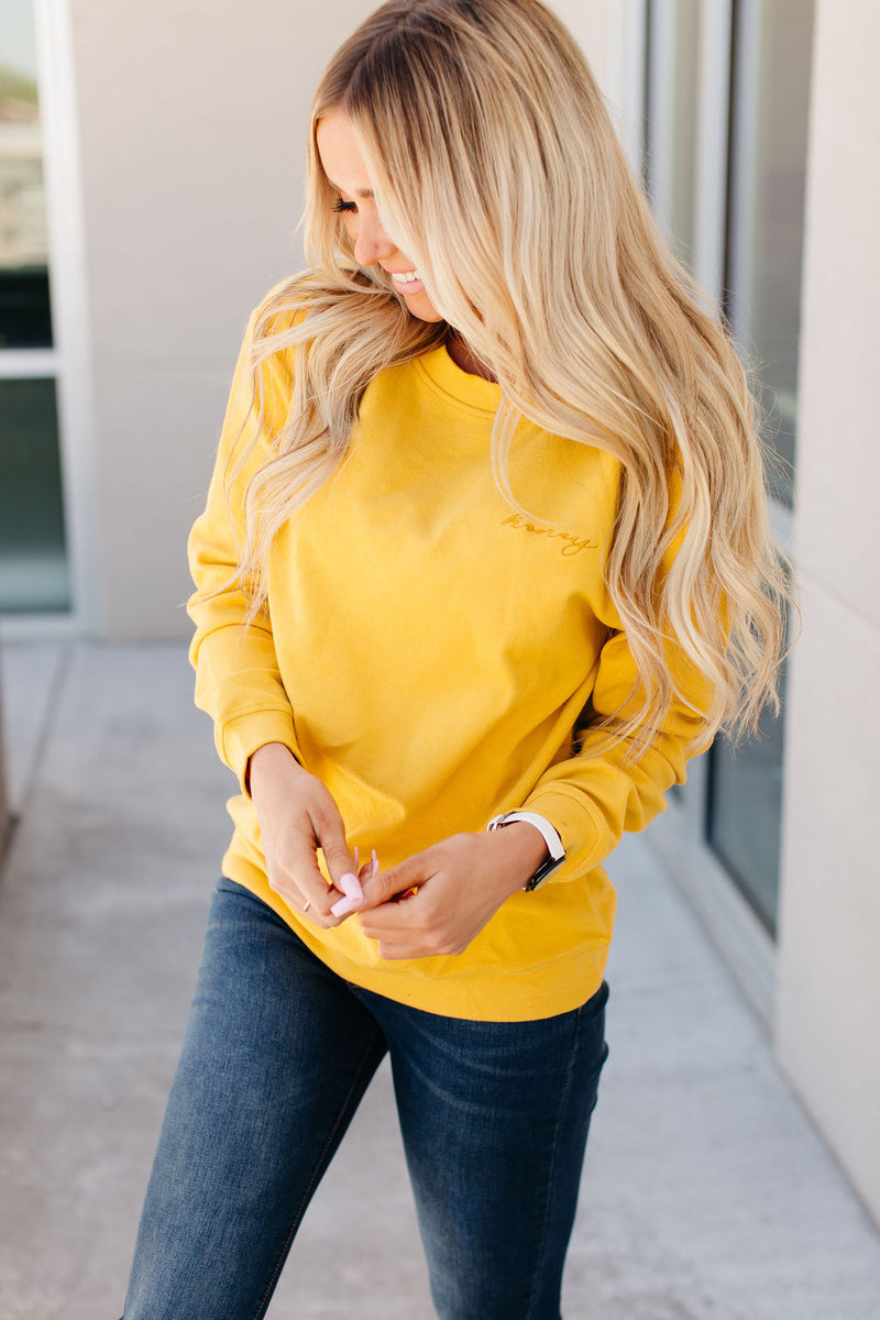 Honey Embroidered Sweatshirt