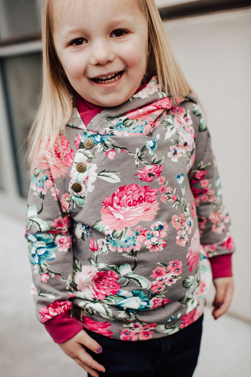 Kids DoubleHood™ - Floral Frenzy
