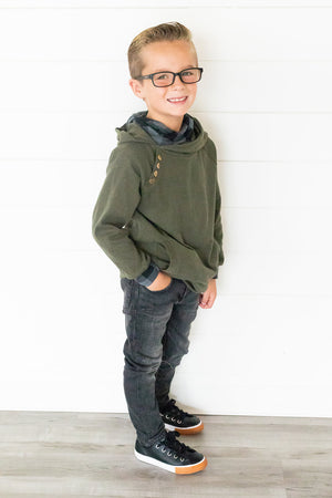 Kids DoubleHood™ - Evergreen Buffalo