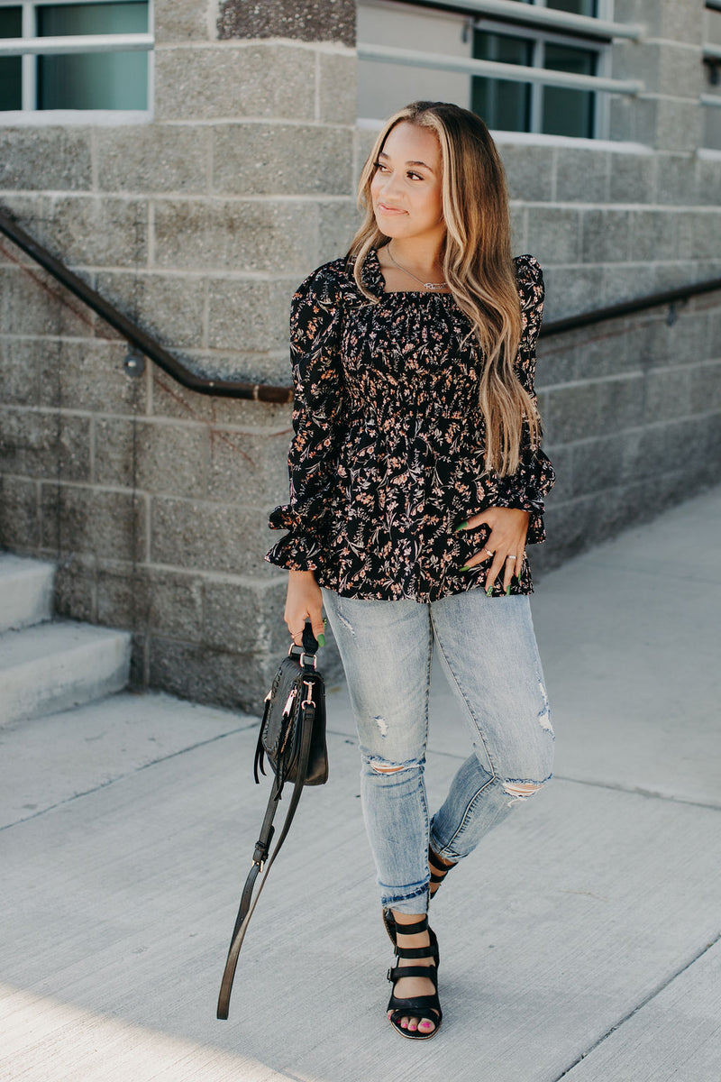 Floral Romance Smocked Top