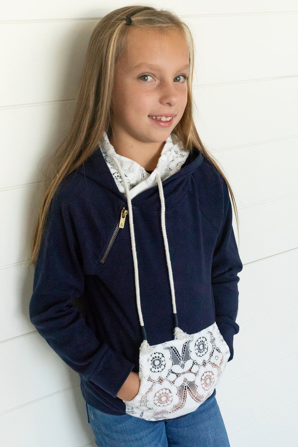 Youth - Navy Lace DoubleHood™