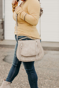 Khloe Saddlebag - Dove Grey