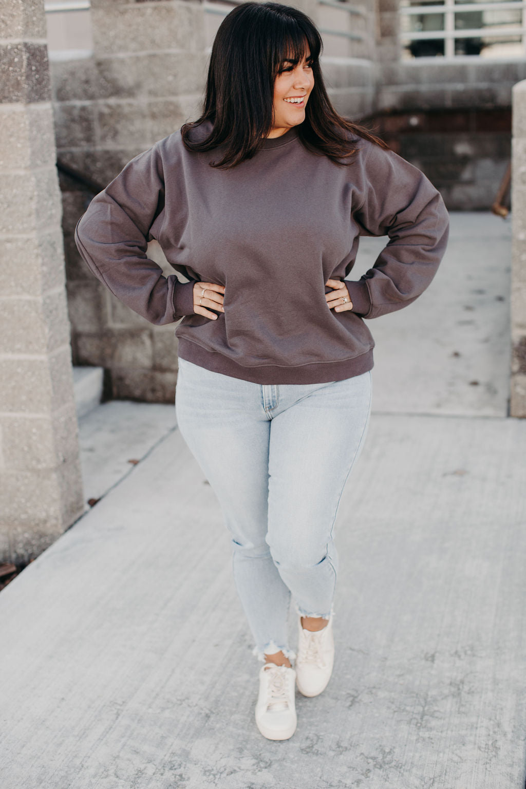 Kate Charcoal Pullover