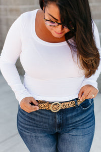 Leopard Belt - Tan