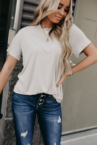Must Have Boyfriend Tee - Silver