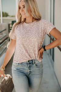 Mad About Mauve Leopard Tee