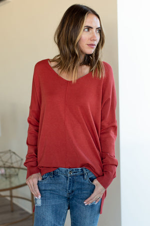Dreamer Sweater - Red Rust
