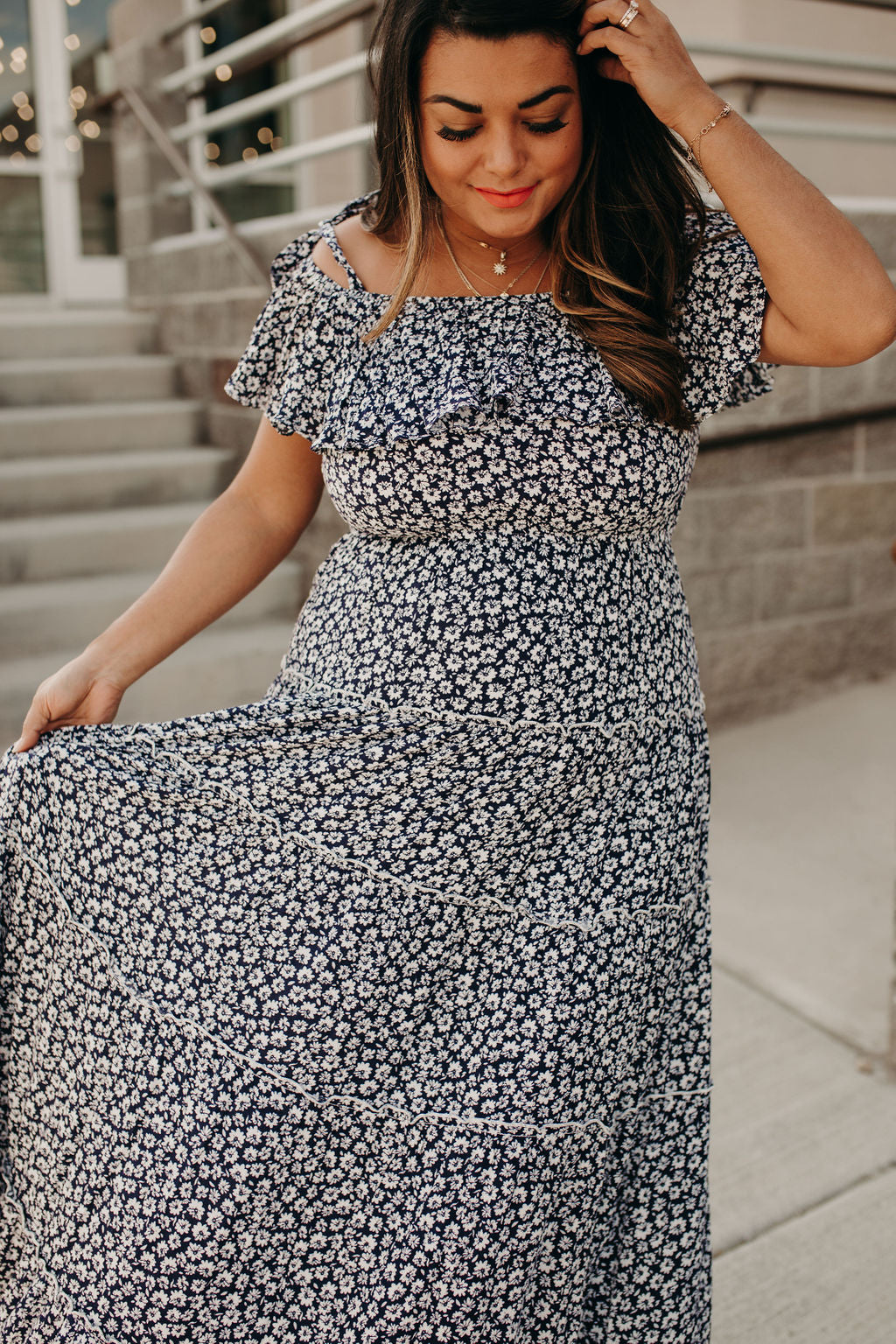 Spinning Meadow Maxi Dress