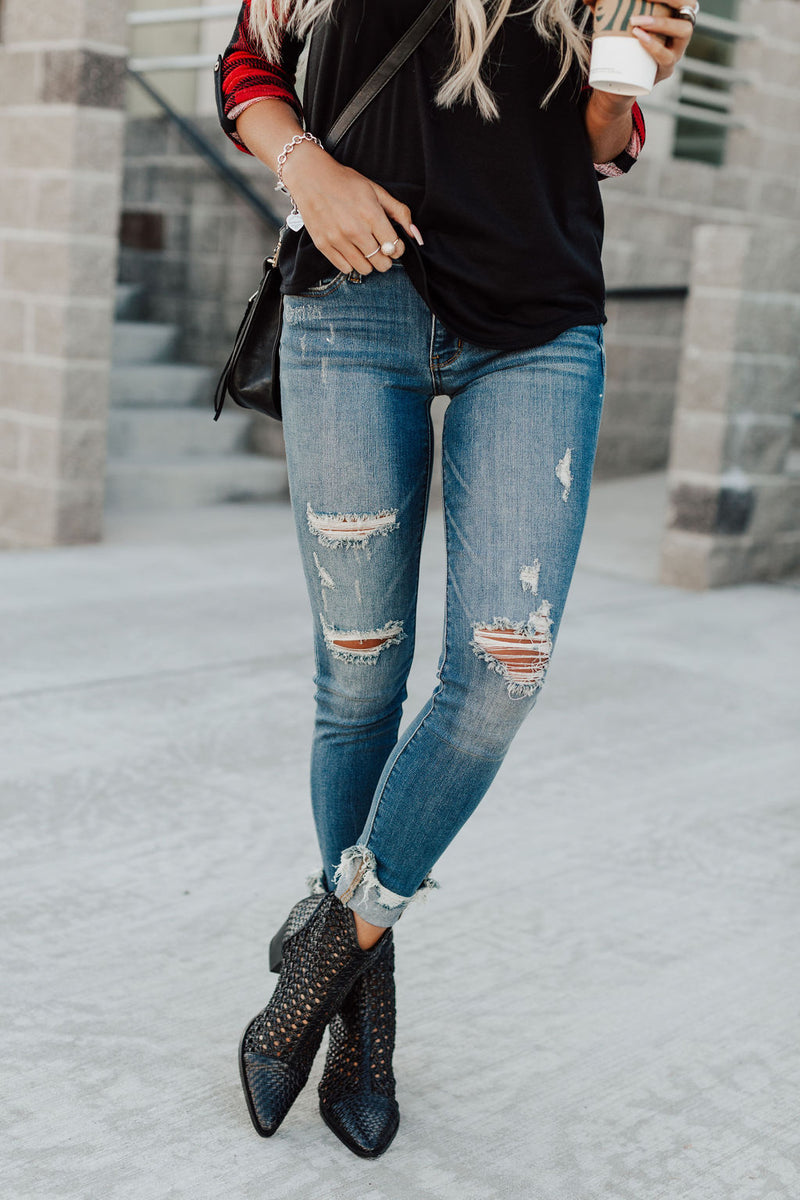 Albany Destroyed Cuff Jeans