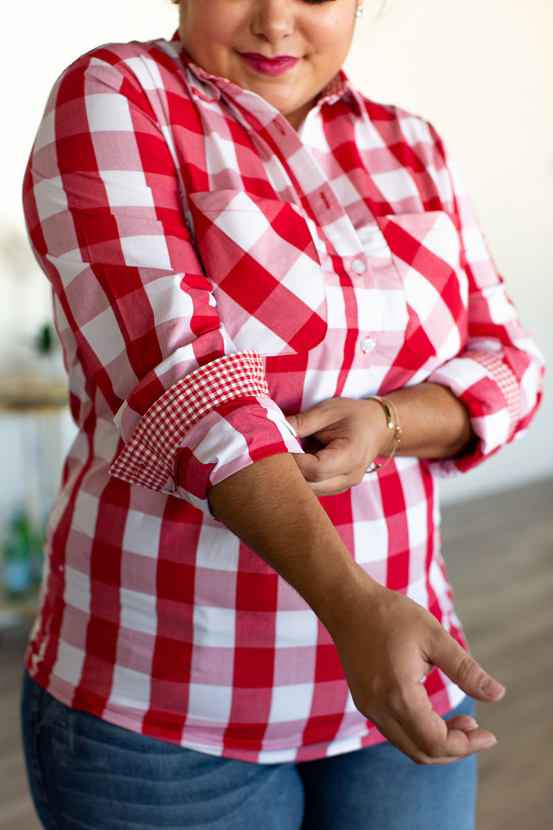 Popover - Red Plaid