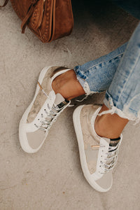 Kate Sneakers - Gold Snake