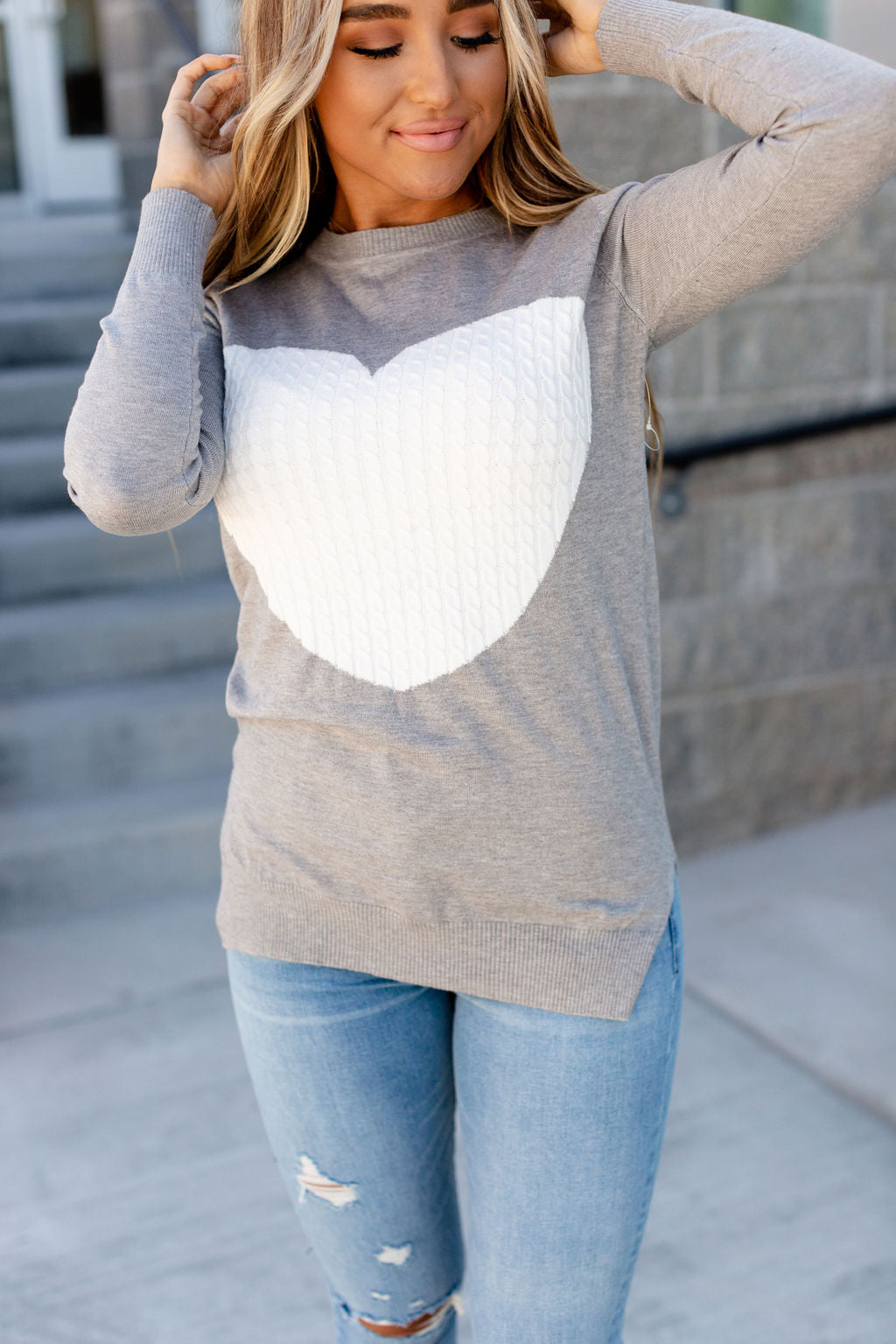 Cableknit Heart Sweater