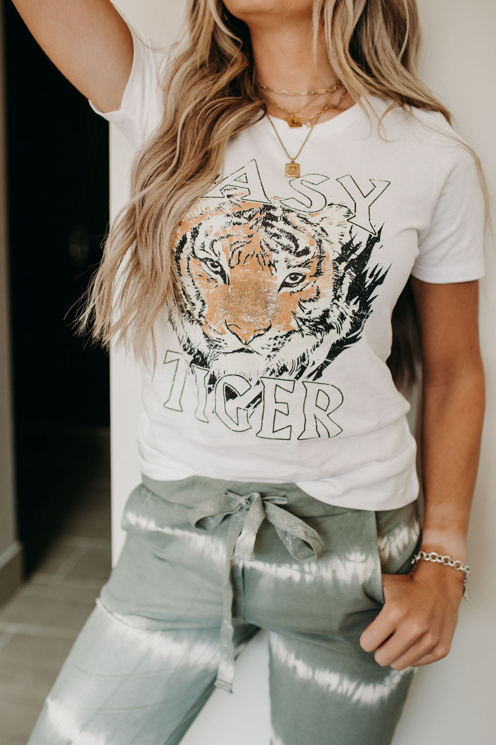 Easy Tiger Tee - White