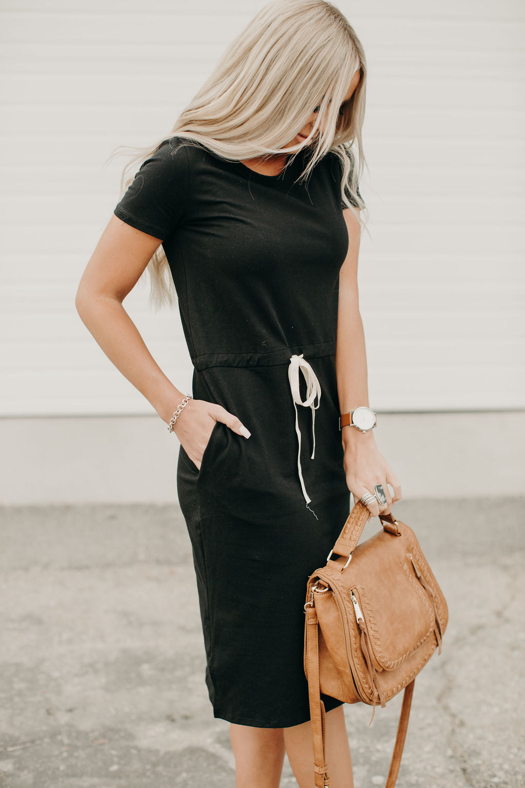 Brittany T-Shirt Dress - Black