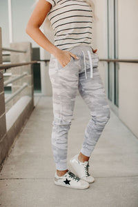 Cute in Camo Comfs - Grey