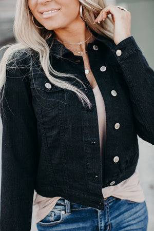 Classic Denim Jacket - Black