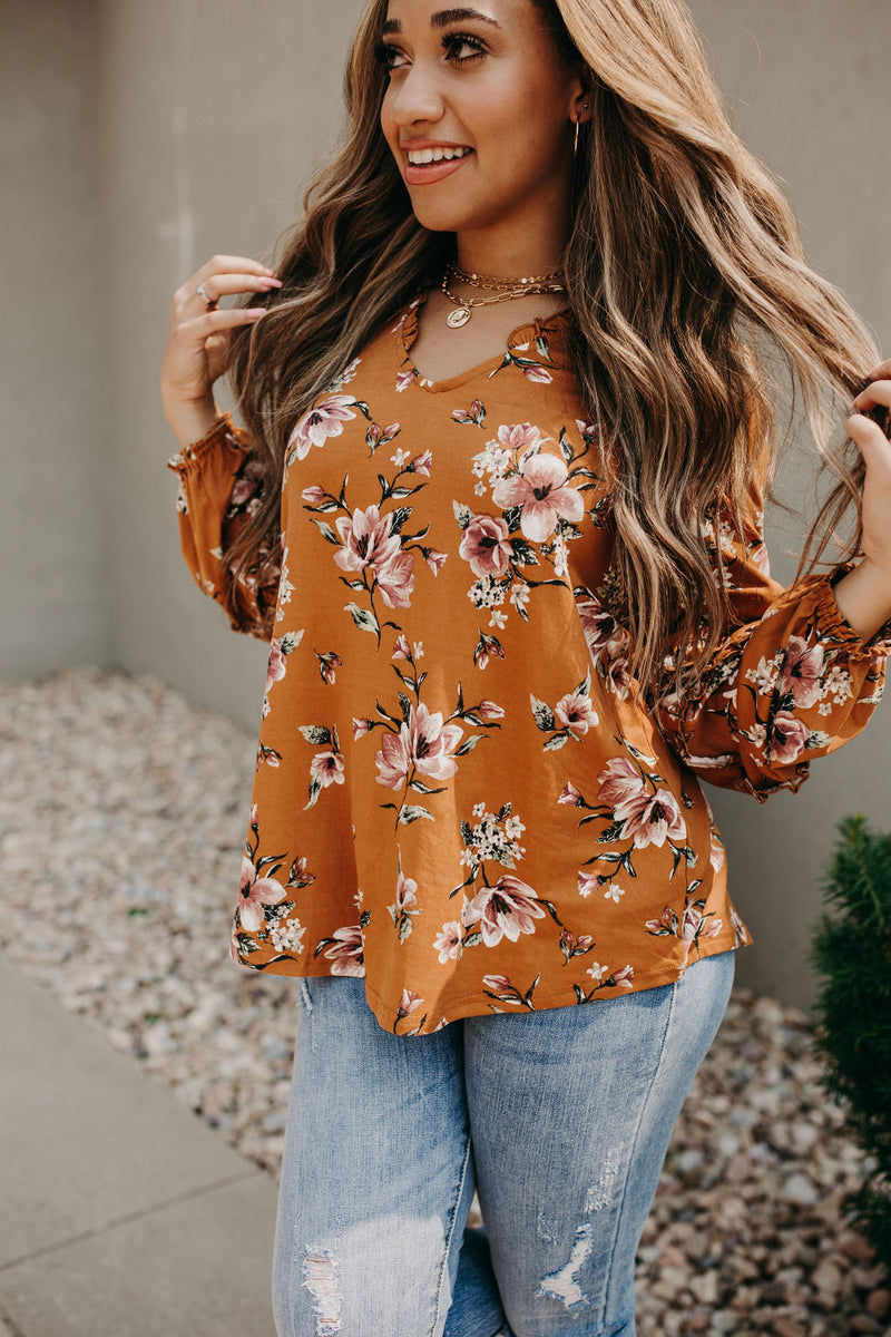 Gracie Floral Ruffle Top